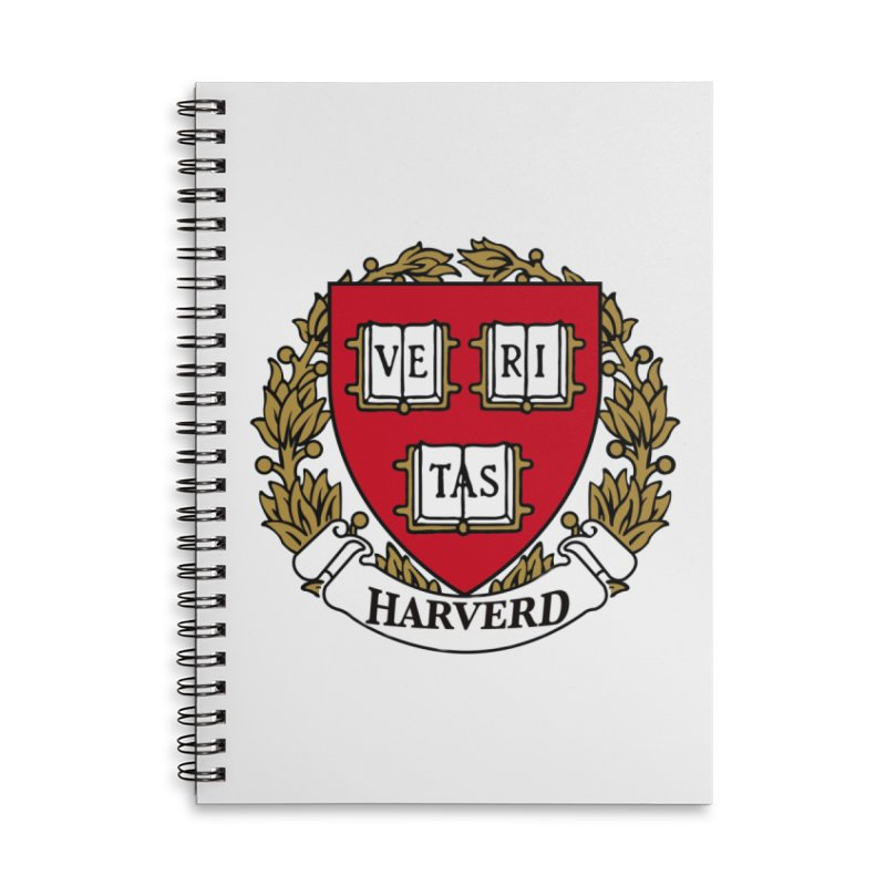 Harverd Accessories Lined Spiral Notebook by The David Feldman Show Official Merch Store