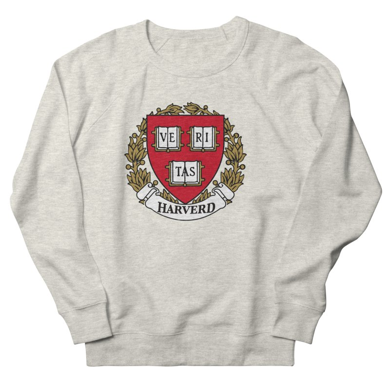 Harverd in Men's French Terry Sweatshirt Heather Oatmeal by The David Feldman Show Official Merch Store