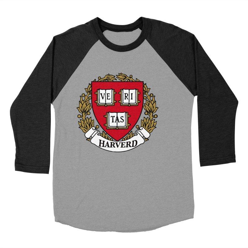 Harverd Women's Baseball Triblend T-Shirt by The David Feldman Show Official Merch Store