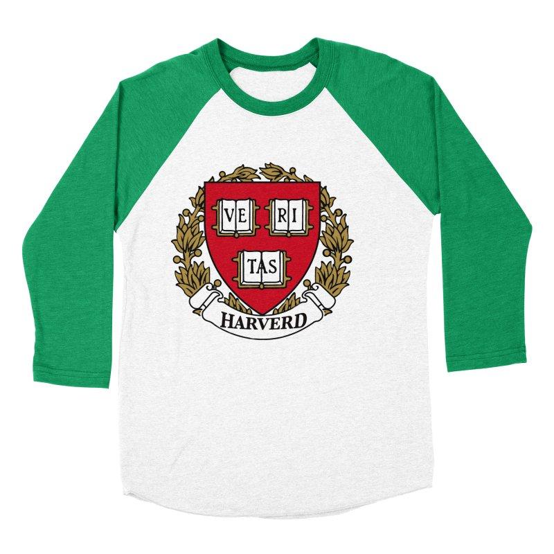 Harverd Men's Baseball Triblend T-Shirt by The David Feldman Show Official Merch Store