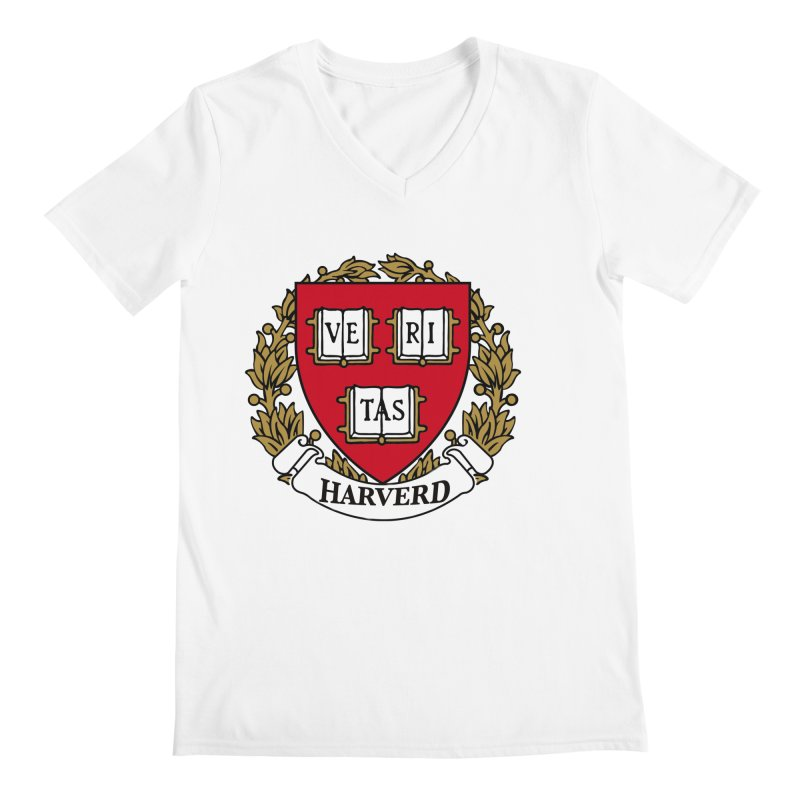 Harverd Men's V-Neck by The David Feldman Show Official Merch Store