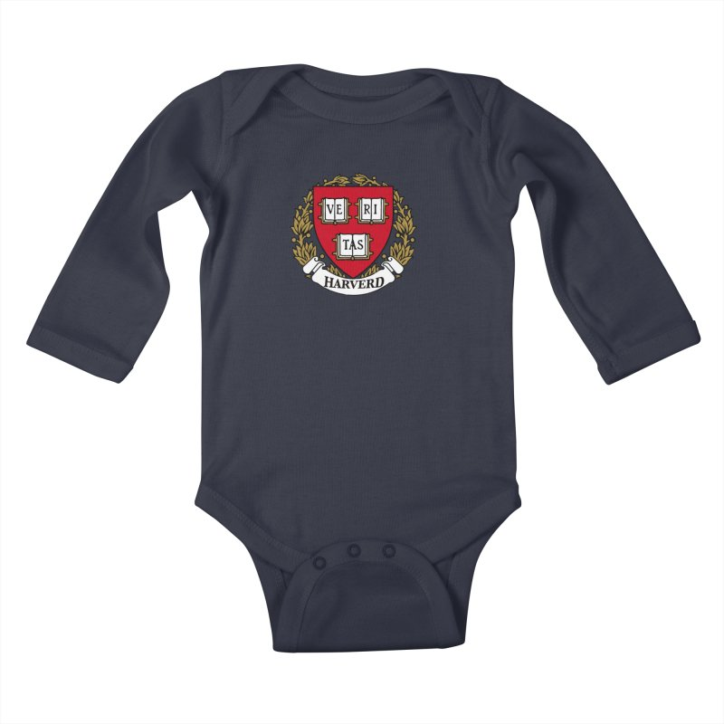 Harverd Kids Baby Longsleeve Bodysuit by The David Feldman Show Official Merch Store