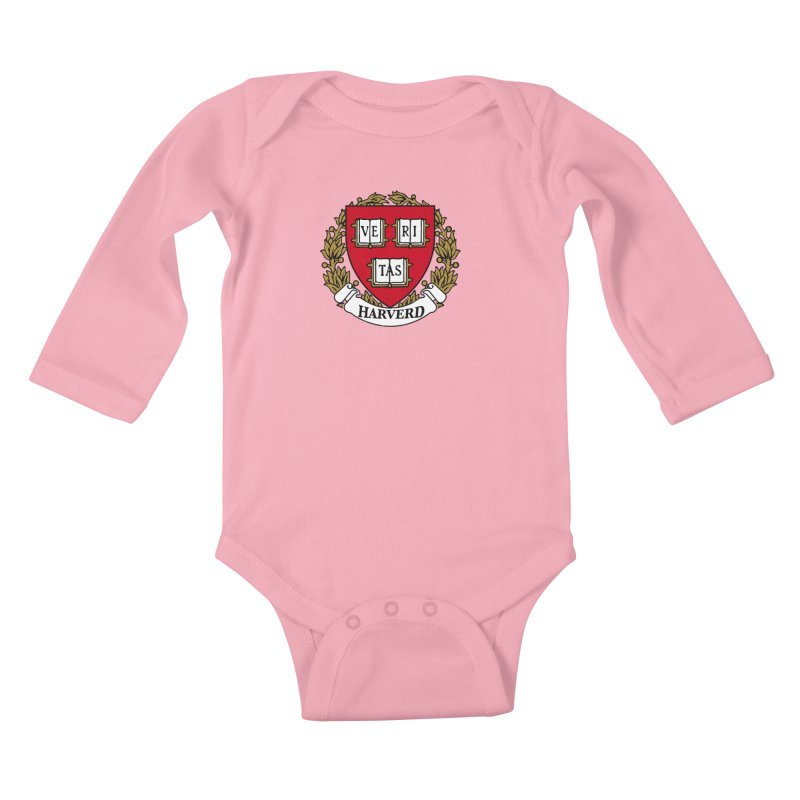 Harverd Kids Baby Longsleeve Bodysuit by The David Feldman Show Official Merch Store