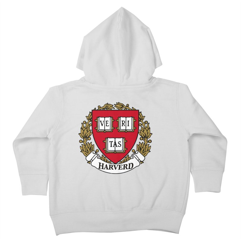 Harverd Kids Toddler Zip-Up Hoody by The David Feldman Show Official Merch Store