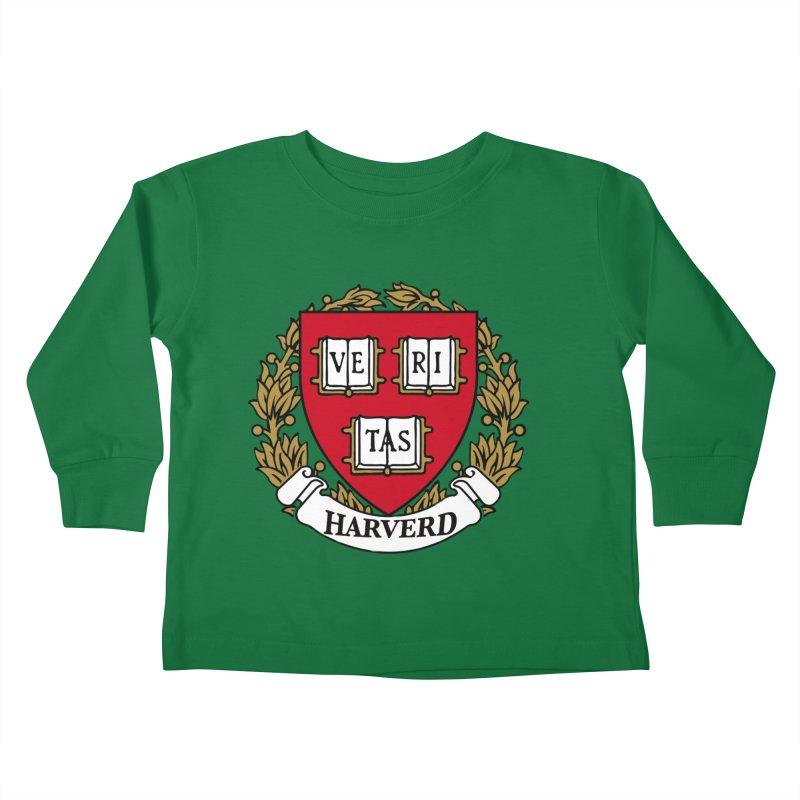 Harverd Kids Toddler Longsleeve T-Shirt by The David Feldman Show Official Merch Store