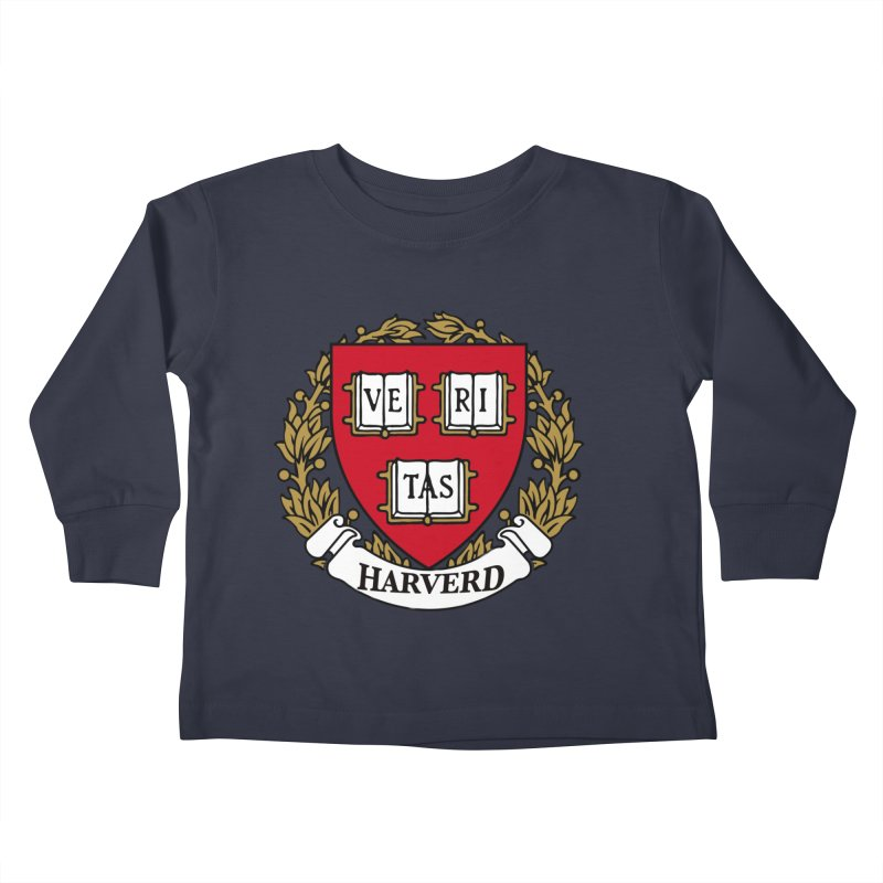 Harverd Kids Toddler Longsleeve T-Shirt by The David Feldman Show Official Merch Store