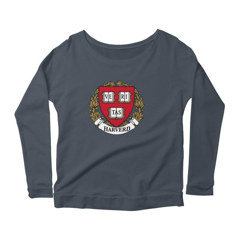Harverd Women's Scoop Neck Longsleeve T-Shirt by The David Feldman Show Official Merch Store