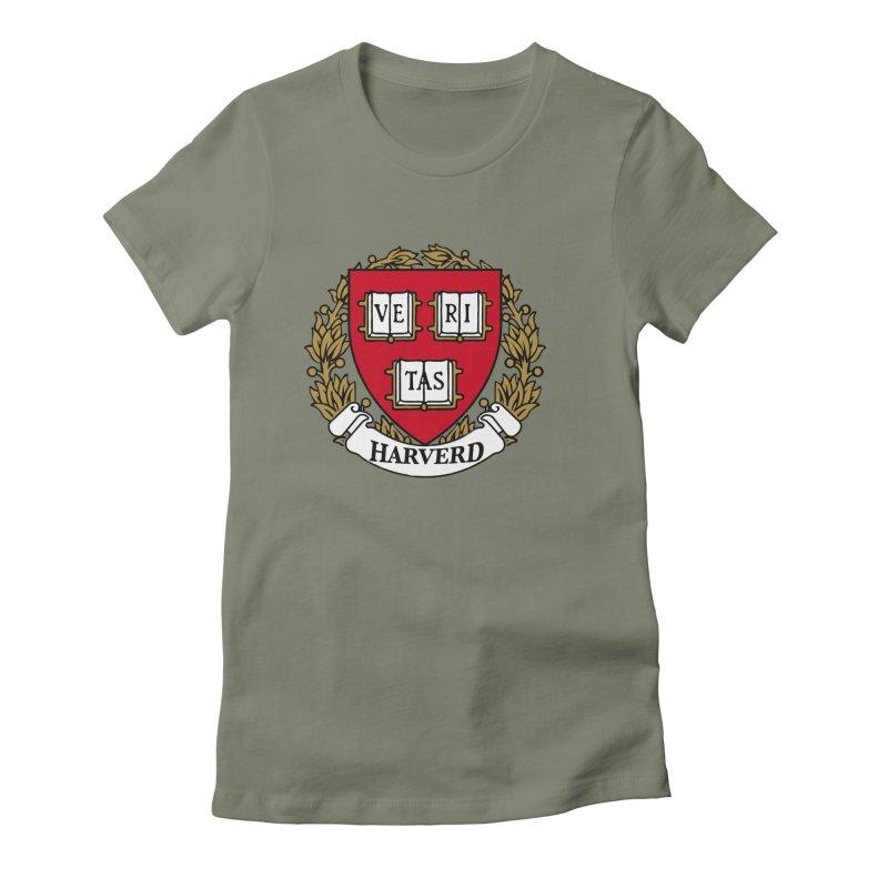 Harverd Women's Fitted T-Shirt by The David Feldman Show Official Merch Store