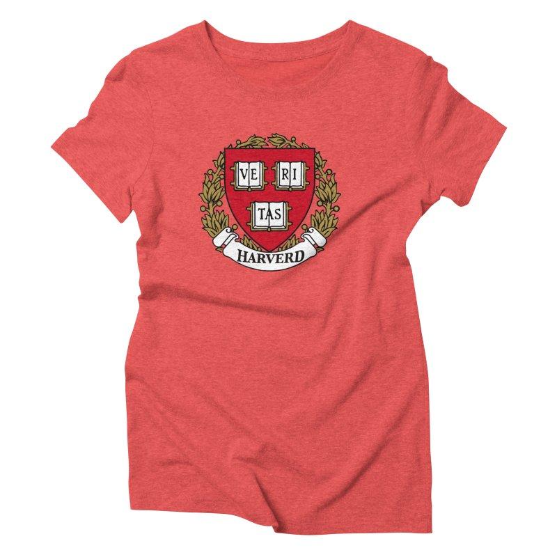 Harverd Women's Triblend T-Shirt by The David Feldman Show Official Merch Store