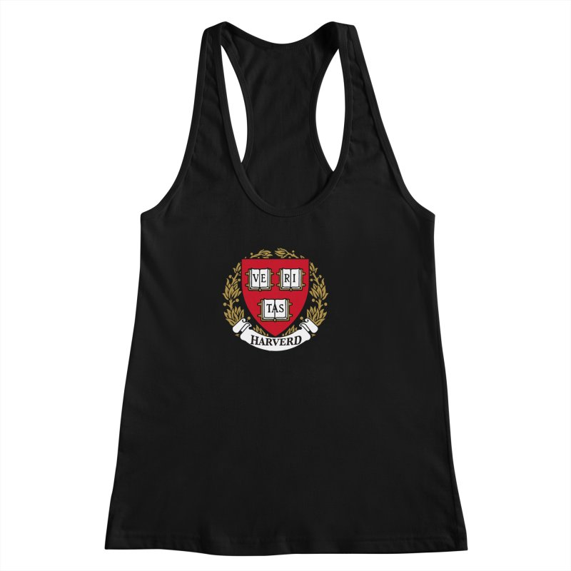 Harverd Women's Racerback Tank by The David Feldman Show Official Merch Store