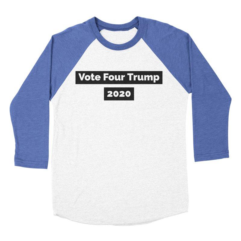 Vote Four Trump Women's Baseball Triblend T-Shirt by The David Feldman Show Official Merch Store