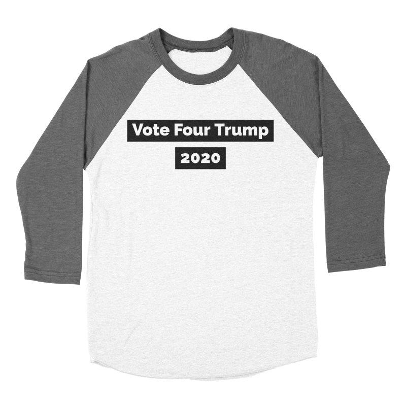 Vote Four Trump Women's Baseball Triblend Longsleeve T-Shirt by The David Feldman Show Official Merch Store