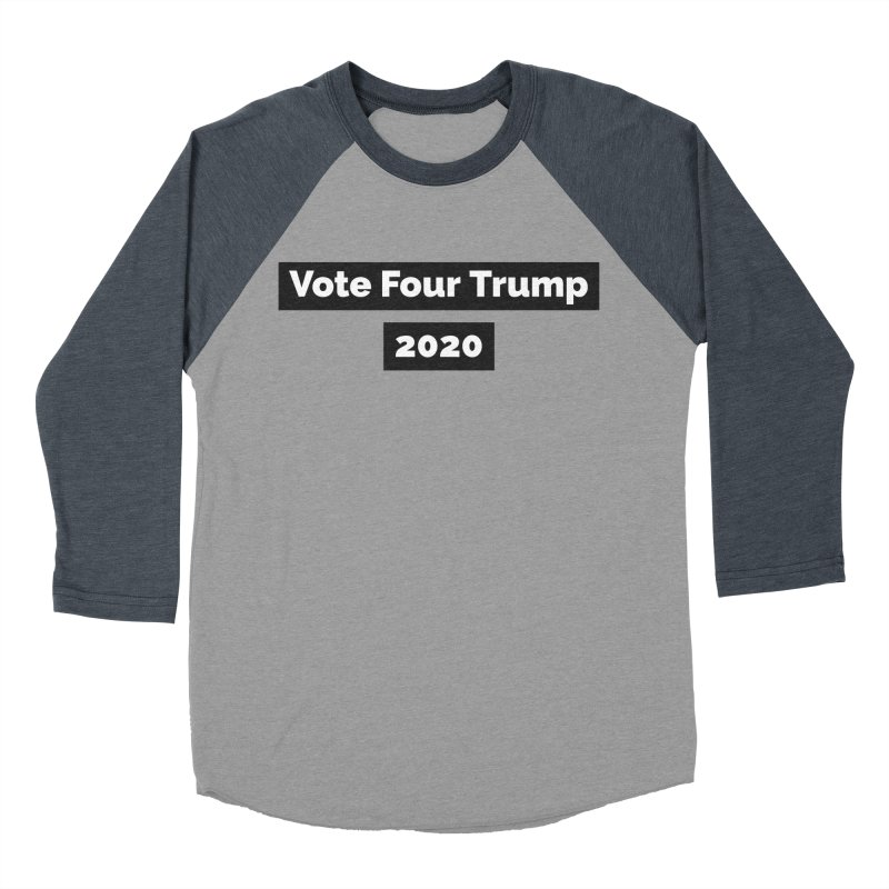 Vote Four Trump Women's Baseball Triblend T-Shirt by The David Feldman Show Official Merch Store