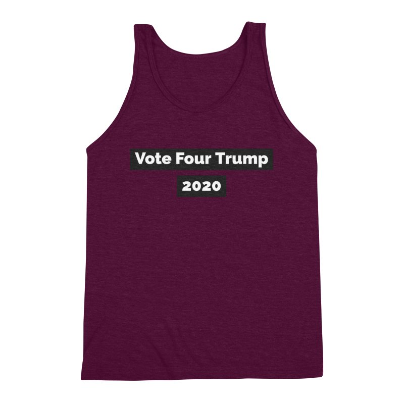 Vote Four Trump Men's Triblend Tank by The David Feldman Show Official Merch Store