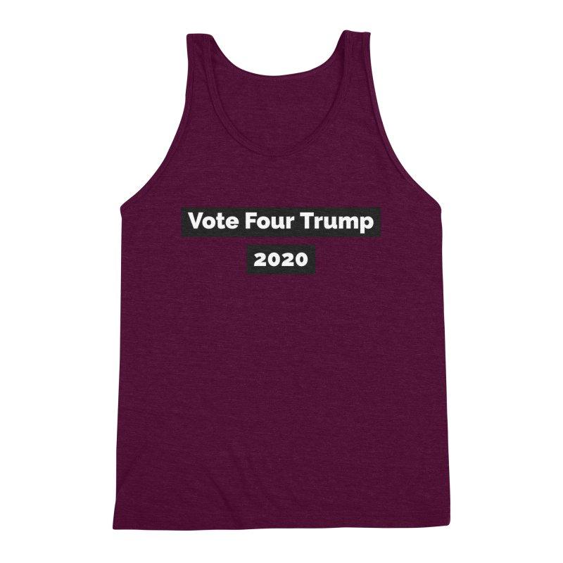 Vote Four Trump Men's Triblend Tank by The David Feldman Show Official Merch Store