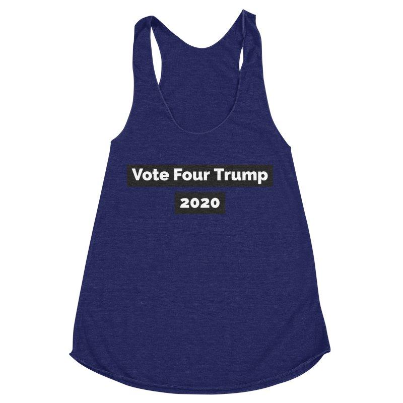 Vote Four Trump Women's Racerback Triblend Tank by The David Feldman Show Official Merch Store