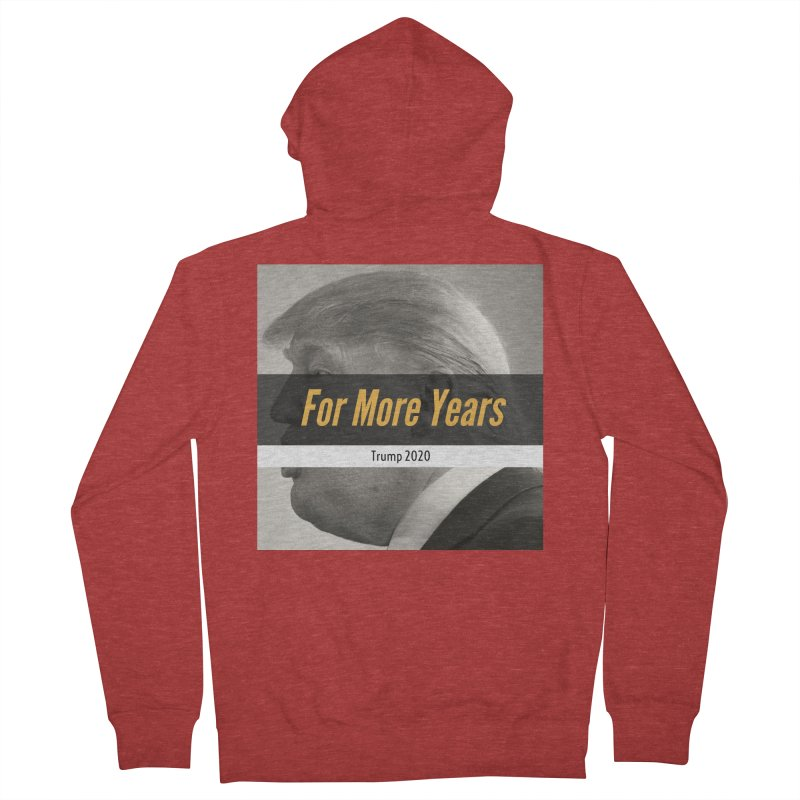 For More Years Women's French Terry Zip-Up Hoody by The David Feldman Show Official Merch Store