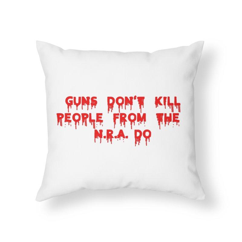 Guns Don't Kill Home Throw Pillow by The David Feldman Show Official Merch Store