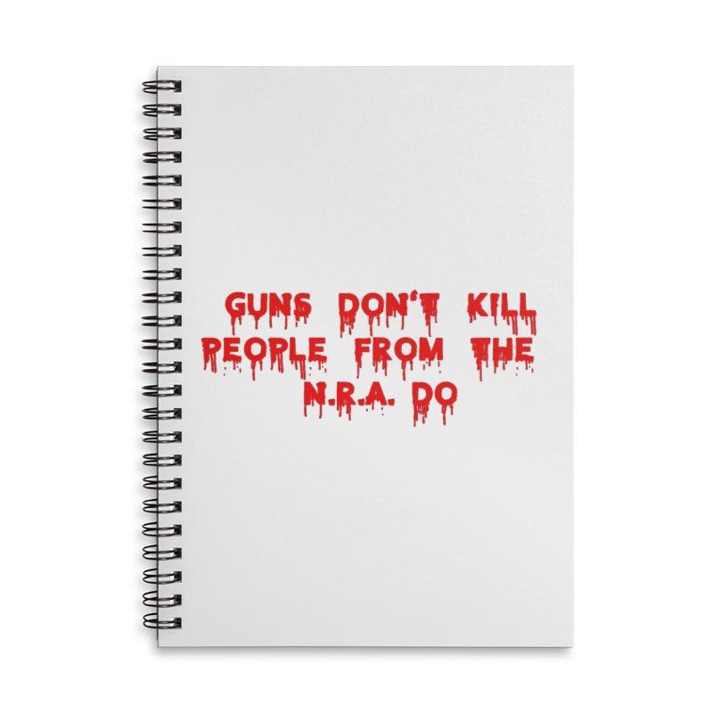 Guns Don't Kill Accessories Lined Spiral Notebook by The David Feldman Show Official Merch Store