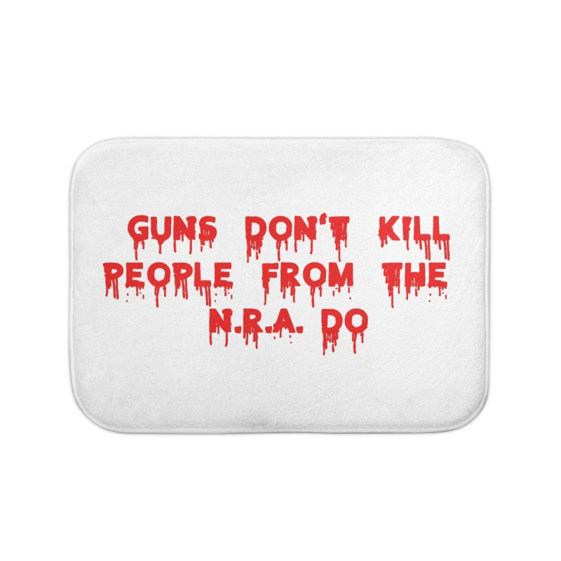 Guns Don't Kill Home Bath Mat by The David Feldman Show Official Merch Store