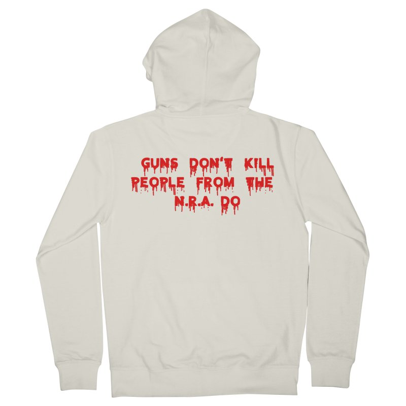Guns Don't Kill Women's French Terry Zip-Up Hoody by The David Feldman Show Official Merch Store