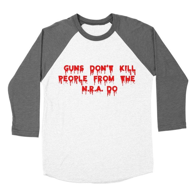Guns Don't Kill Men's Baseball Triblend Longsleeve T-Shirt by The David Feldman Show Official Merch Store