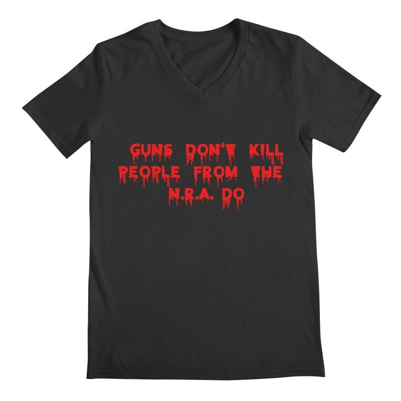 Guns Don't Kill Men's V-Neck by The David Feldman Show Official Merch Store