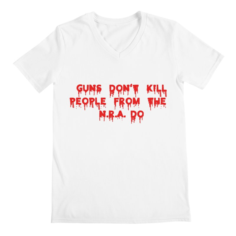 Guns Don't Kill Men's Regular V-Neck by The David Feldman Show Official Merch Store