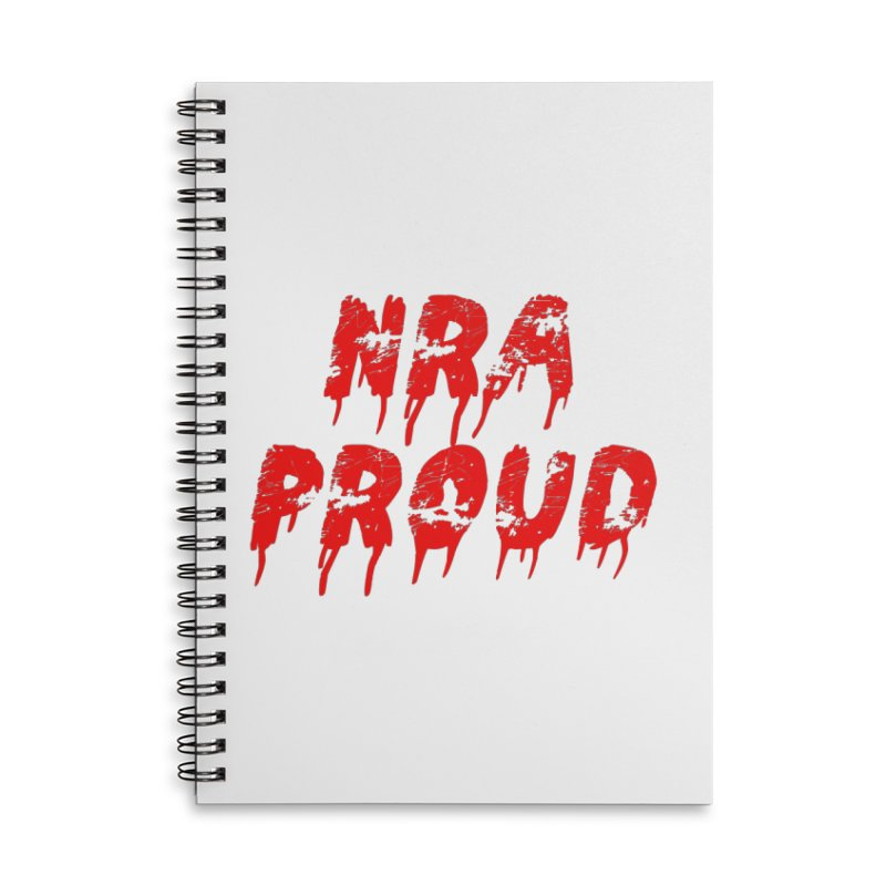 N.R.A. Proud Accessories Lined Spiral Notebook by The David Feldman Show Official Merch Store