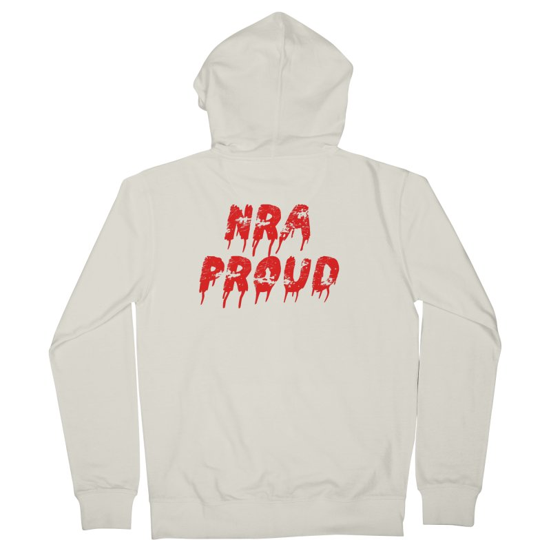 N.R.A. Proud Women's French Terry Zip-Up Hoody by The David Feldman Show Official Merch Store