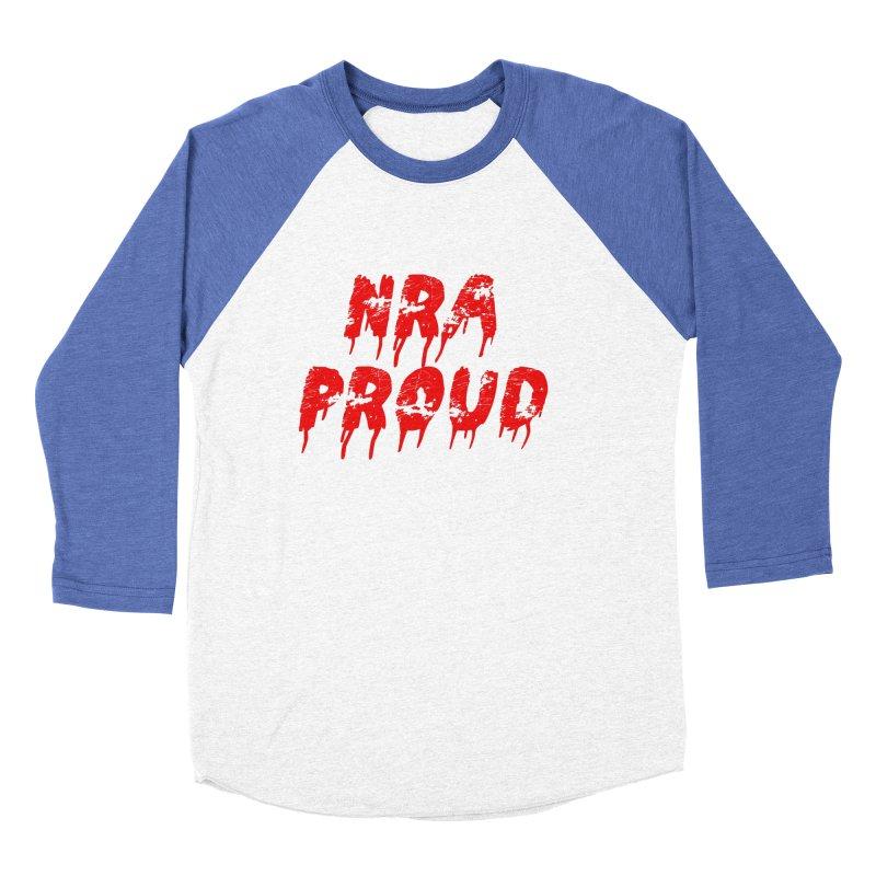 N.R.A. Proud Men's Baseball Triblend Longsleeve T-Shirt by The David Feldman Show Official Merch Store