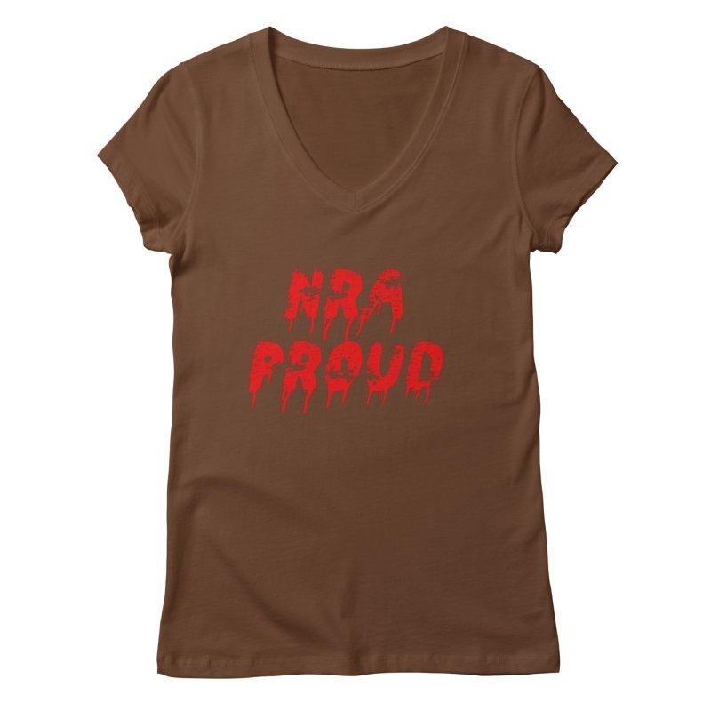 N.R.A. Proud Women's Regular V-Neck by The David Feldman Show Official Merch Store
