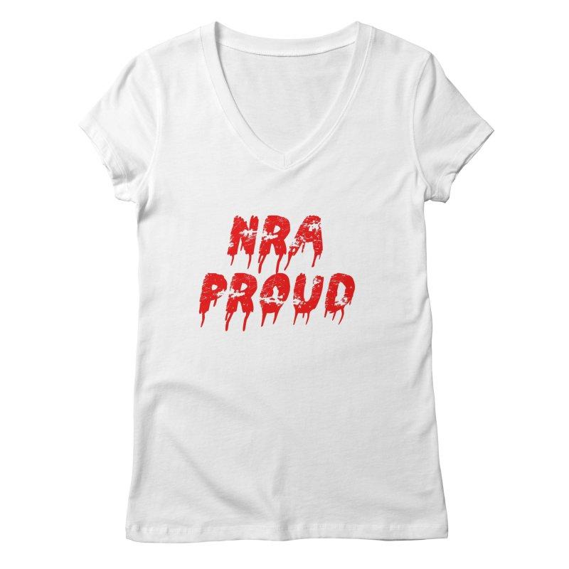 N.R.A. Proud Women's V-Neck by The David Feldman Show Official Merch Store