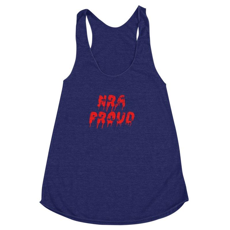 N.R.A. Proud Women's Racerback Triblend Tank by The David Feldman Show Official Merch Store