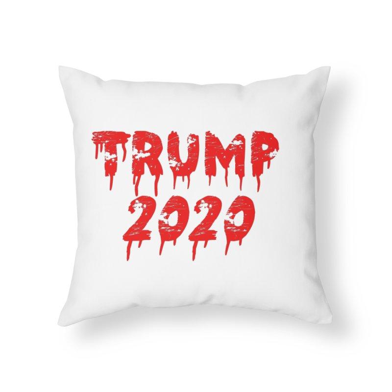 Trump 2020 Home Throw Pillow by The David Feldman Show Official Merch Store