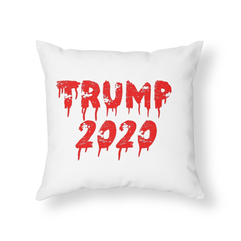 Trump 2020 Home Throw Pillow by The David Feldman Show Official Merch Store