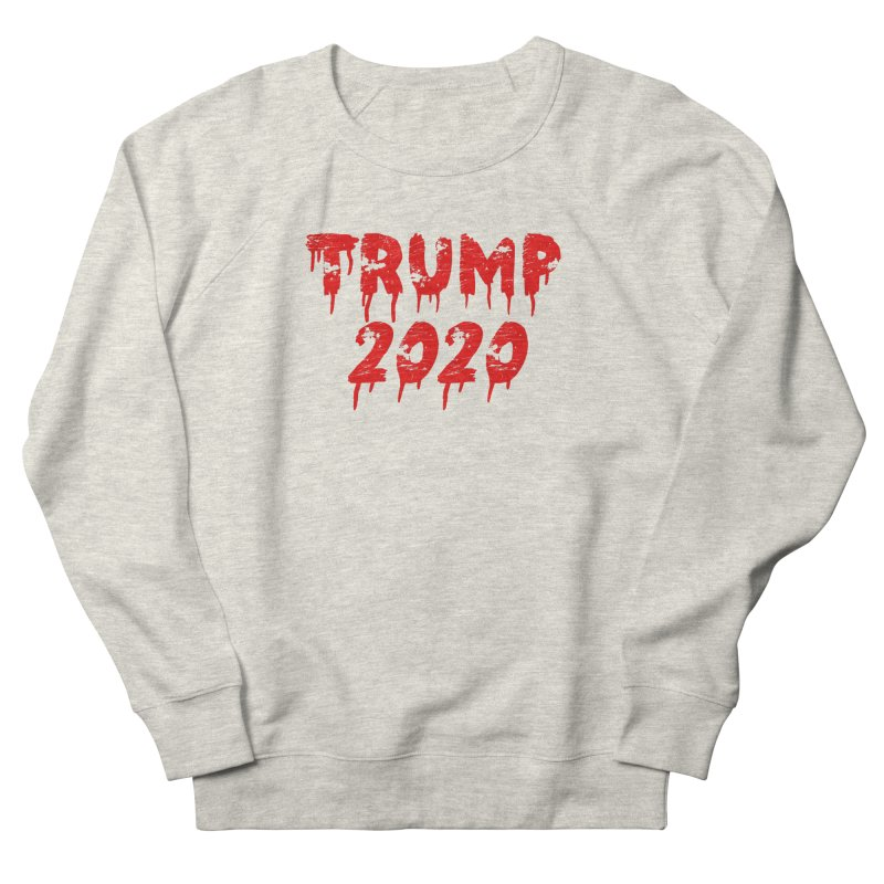 Trump 2020 in Men's French Terry Sweatshirt Heather Oatmeal by The David Feldman Show Official Merch Store