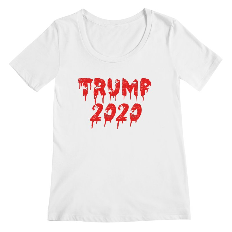 Trump 2020 Women's Scoopneck by The David Feldman Show Official Merch Store