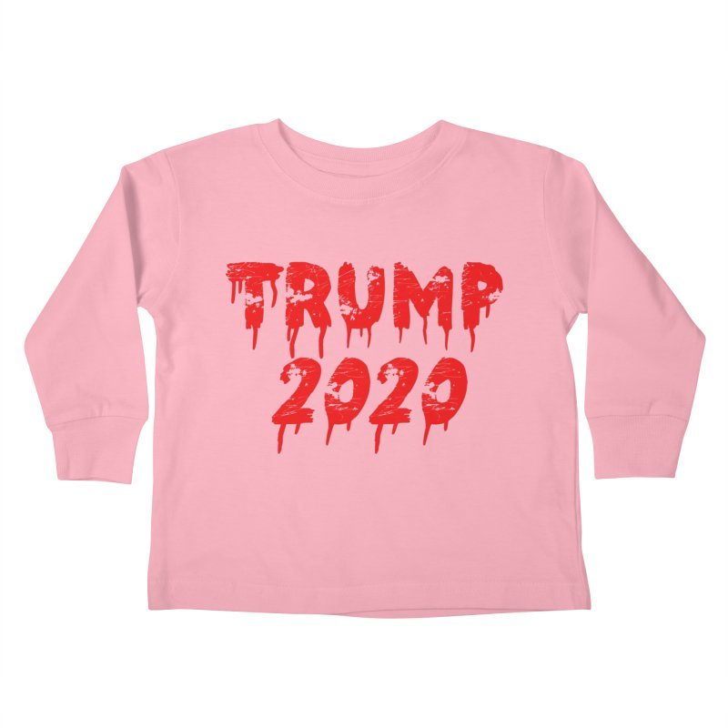 Trump 2020 Kids Toddler Longsleeve T-Shirt by The David Feldman Show Official Merch Store
