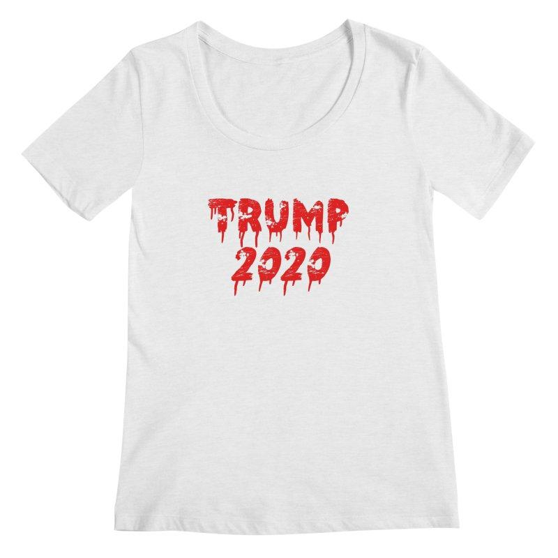 Trump 2020 Women's Regular Scoop Neck by The David Feldman Show Official Merch Store
