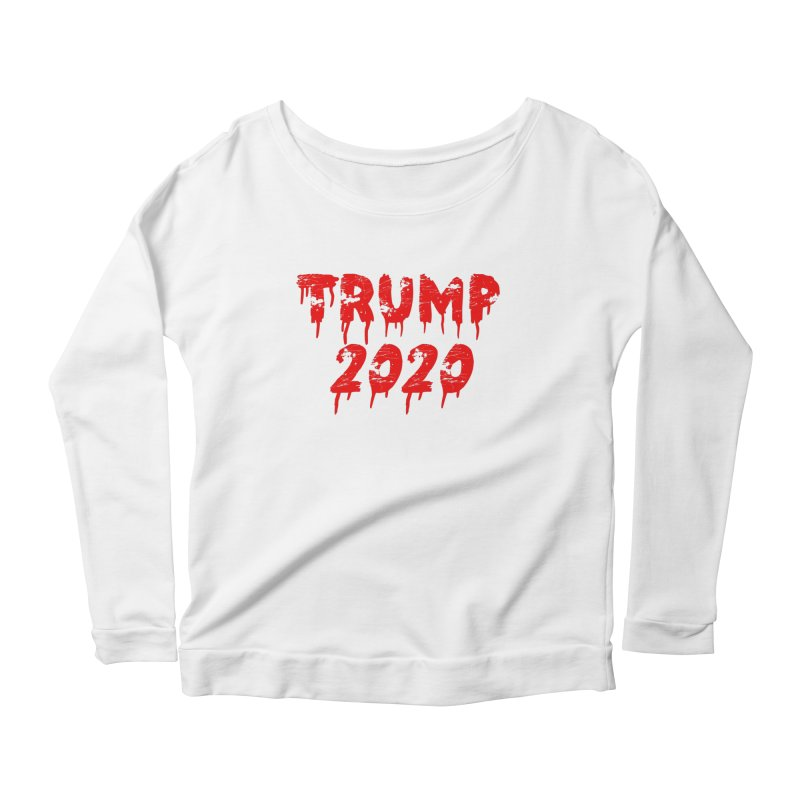 Trump 2020 Women's Scoop Neck Longsleeve T-Shirt by The David Feldman Show Official Merch Store