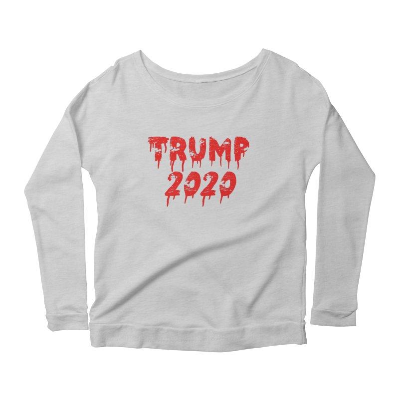 Trump 2020 Women's Longsleeve Scoopneck  by The David Feldman Show Official Merch Store