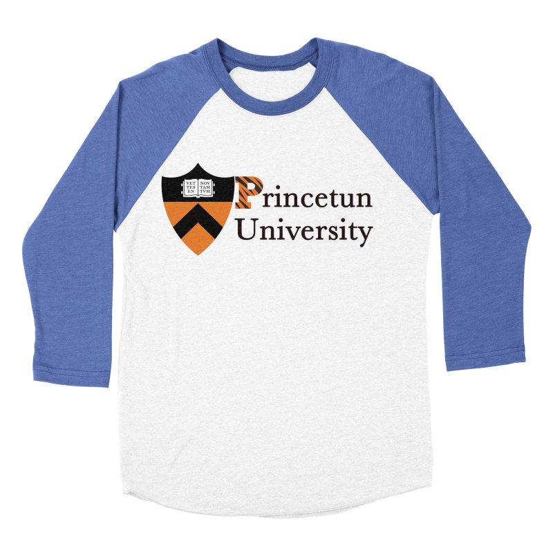 Princetun Women's Baseball Triblend Longsleeve T-Shirt by The David Feldman Show Official Merch Store
