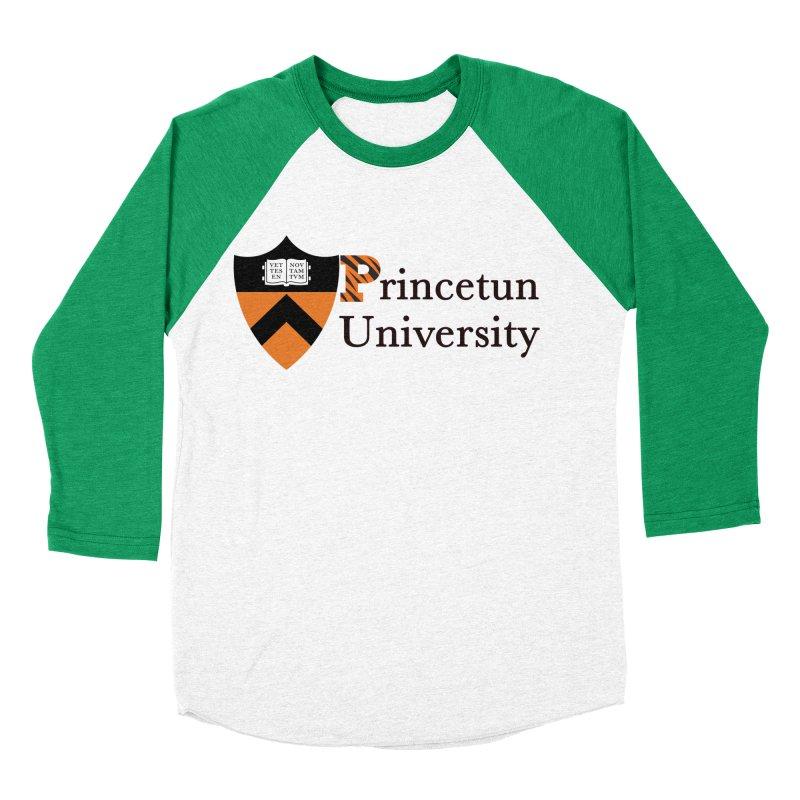 Princetun Men's Baseball Triblend Longsleeve T-Shirt by The David Feldman Show Official Merch Store
