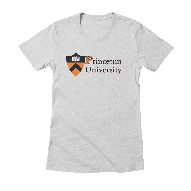 Princetun Women's Fitted T-Shirt by The David Feldman Show Official Merch Store