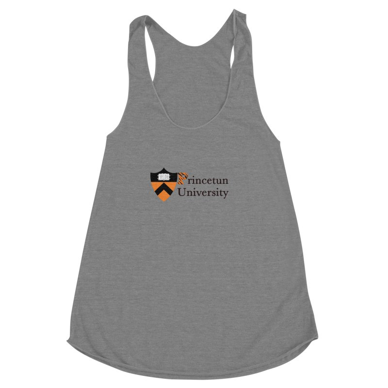 Princetun Women's Racerback Triblend Tank by The David Feldman Show Official Merch Store