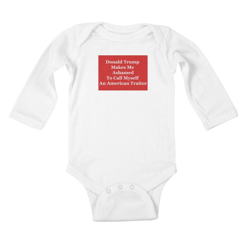 Traitor Kids Baby Longsleeve Bodysuit by The David Feldman Show Official Merch Store