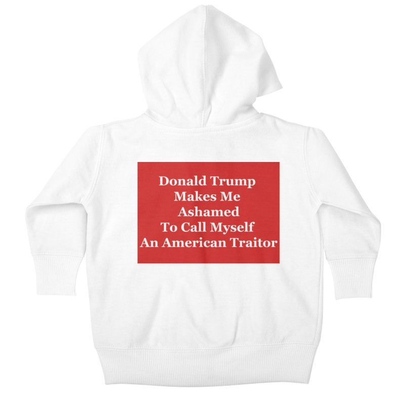 Traitor Kids Baby Zip-Up Hoody by The David Feldman Show Official Merch Store