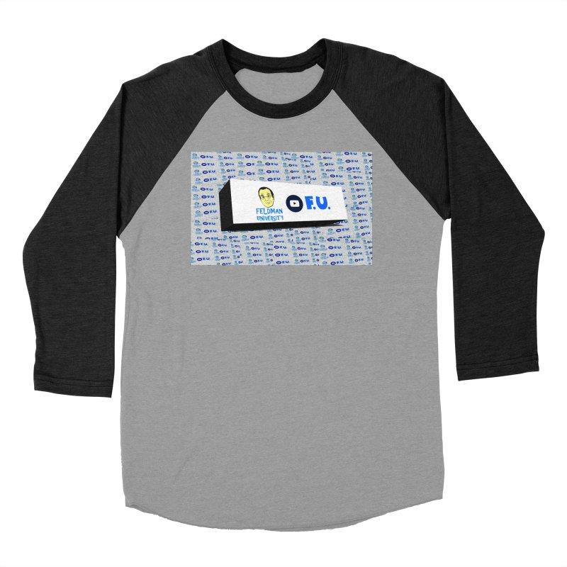 Feldman University Women's Baseball Triblend Longsleeve T-Shirt by The David Feldman Show Official Merch Store