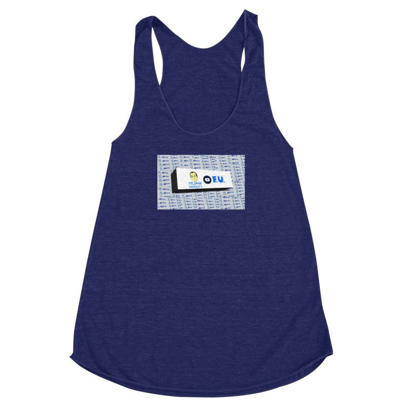 Feldman University Women's Racerback Triblend Tank by The David Feldman Show Official Merch Store